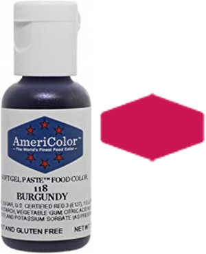 Americolor Soft Gel Paste Food Color - Burgundy