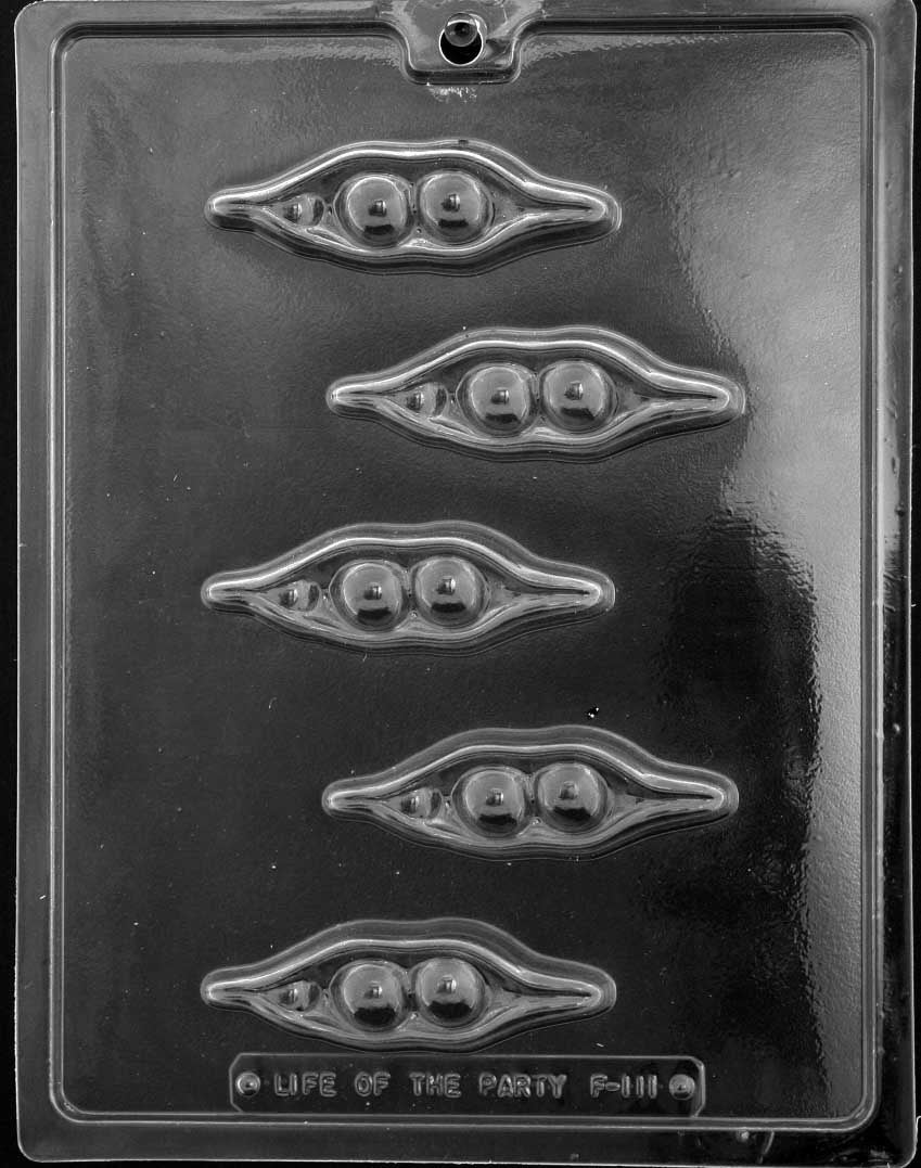 Large Peas In A Pod Chocolate Mold