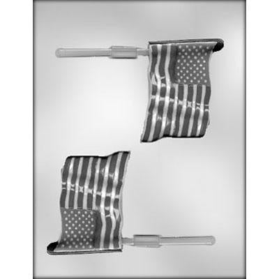 American Flag Lollipop Chocolate Mold