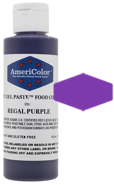Americolor Soft Gel Paste Food Color - Regal Purple - 4.5oz