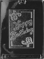 Happy Birthday Card Chocolate Mold