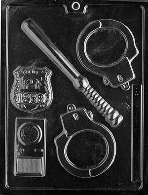 Police Tools Chocolate Mold