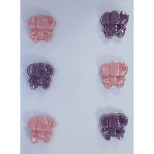 6 Piece Elephant Chocolate Mold