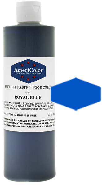 Americolor Soft Gel Paste Food Color - Royal Blue - 13.5oz