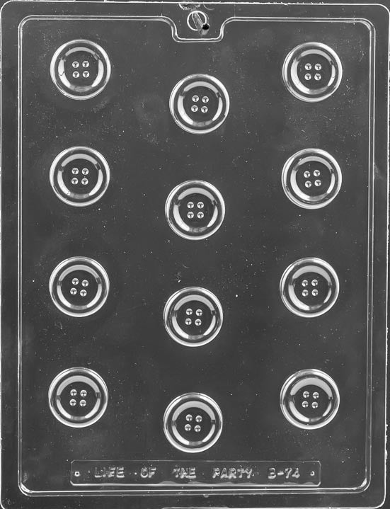 Bite Size Button Chocolate Mold