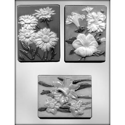 Assortment Flowers Chocolate Bar Mold