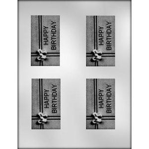 "Birthday Bar Chocolate Mold (3.75"")"