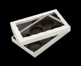Cookie Box - White - 2 Pieces - 6 Cookie Insert - Window
