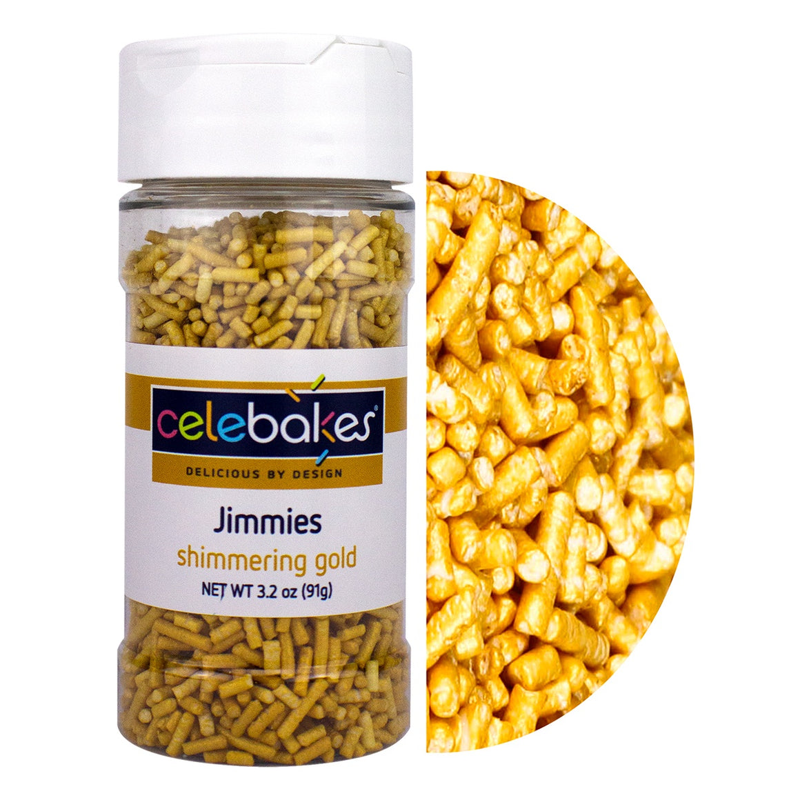 Celebakes Shimmering Gold Jimmies