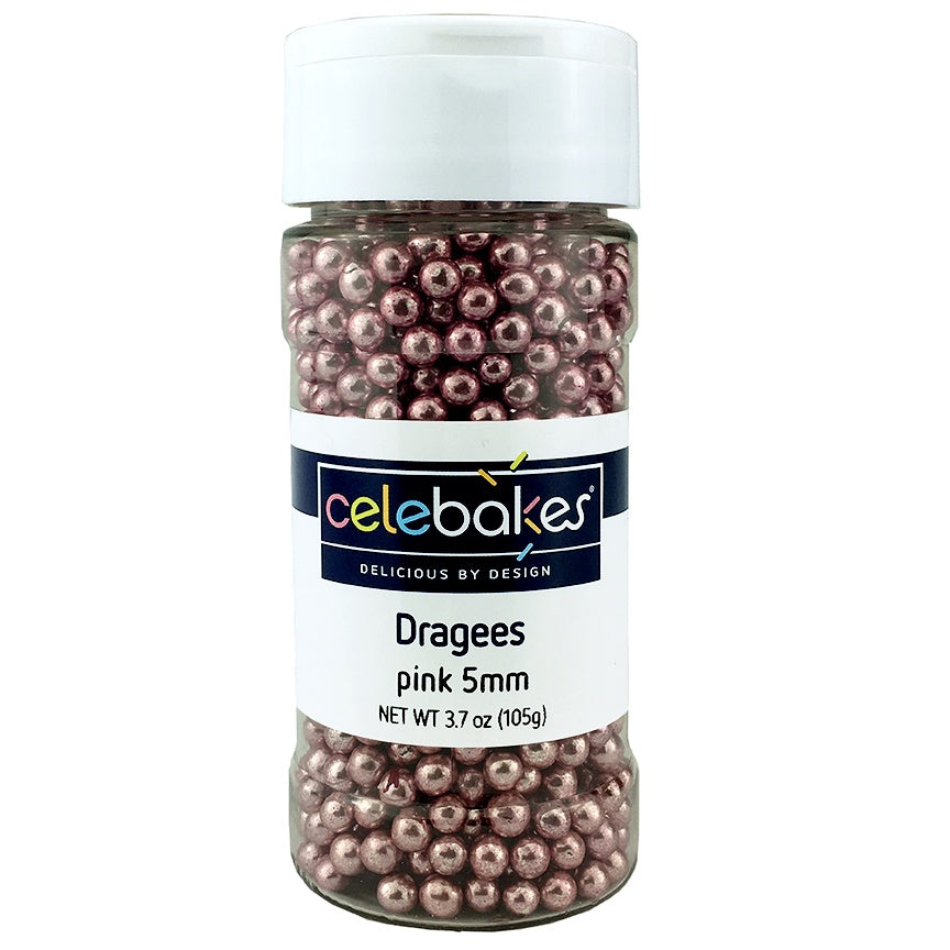 Celebakes Pink Dragees - 5MM