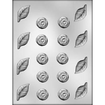 Rose/Leaf Assortment Chocolate Mold