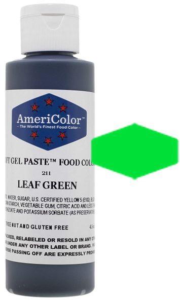 Americolor Soft Gel Paste Food Color - Leaf Green - 4.5oz