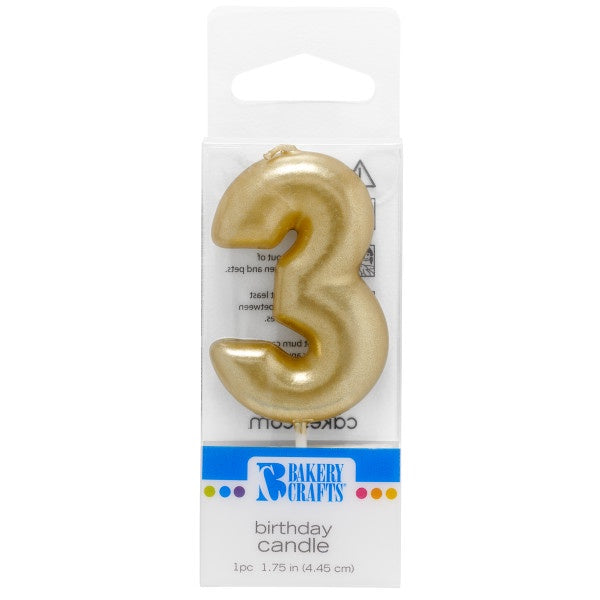 Candle Gold Number - 3