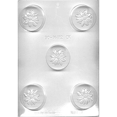 Poinsettia Chocolate Cookie Mold