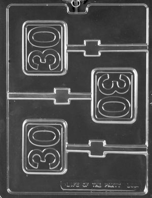 #30 Plain Lolly Chocolate Mold