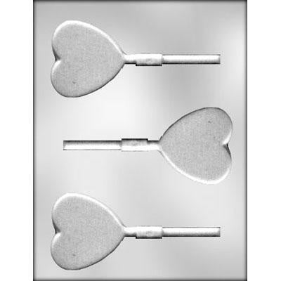 Small Plain Heart Lollipop Chocolate Mold