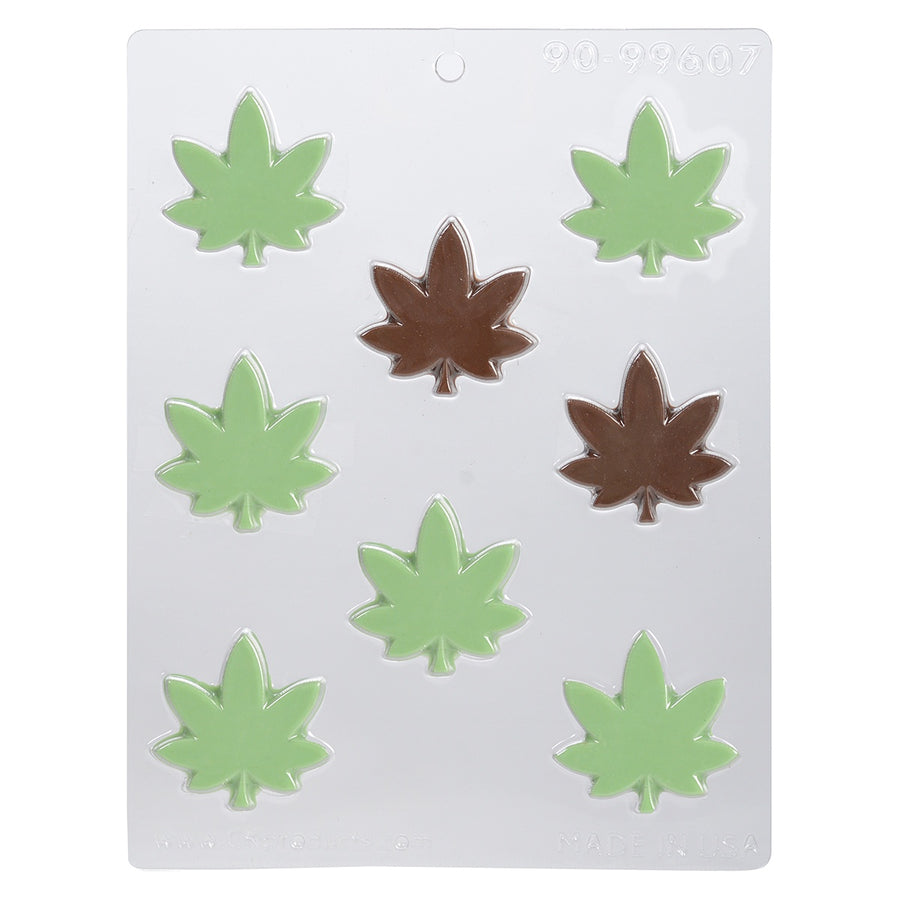 Marijuana Thick Leaf Chocolate Mold