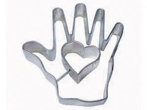 "4"" Heart In Hand Cookie Cutter"