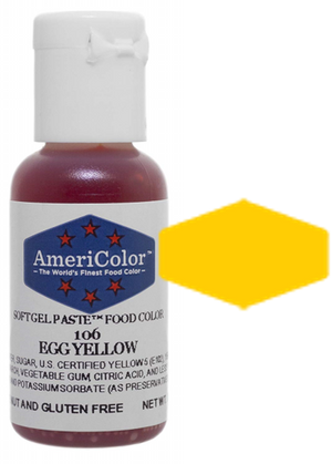 Americolor Soft Gel Paste Food Color - Egg Yellow