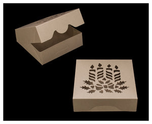 Pastry Box - Kraft - Candles - 8x8x2.5