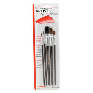 5 Assorted Artist Brushes