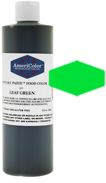 Americolor Soft Gel Paste Food Color - Leaf Green - 13.5oz