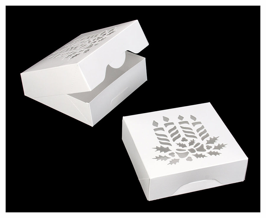 Pastry Box - White - Candles - 8x8x2.5