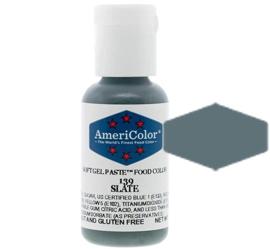 Americolor Soft Gel Paste Food Color - Slate