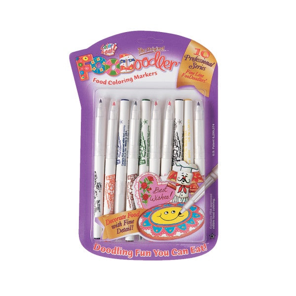Food Coloring Markers 10 Professional Series Fine Line