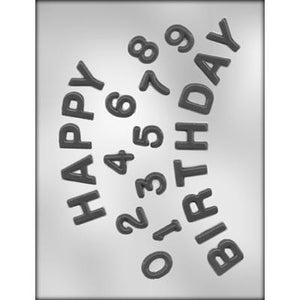 Happy Birthday / Numbers chocolate mold