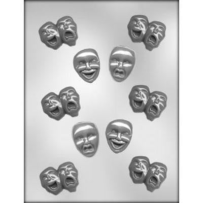 Comedy And Tragedy Mask Chocolate Mold