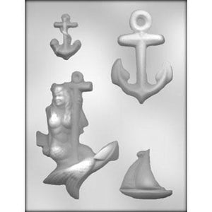 Big Anchor With Mermaid Chocolate Mold
