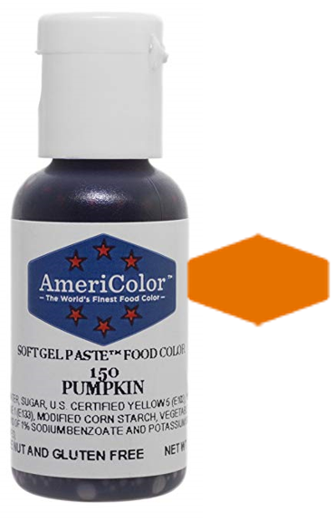 Americolor Soft Gel Paste Food Color - Pumpkin, .75oz