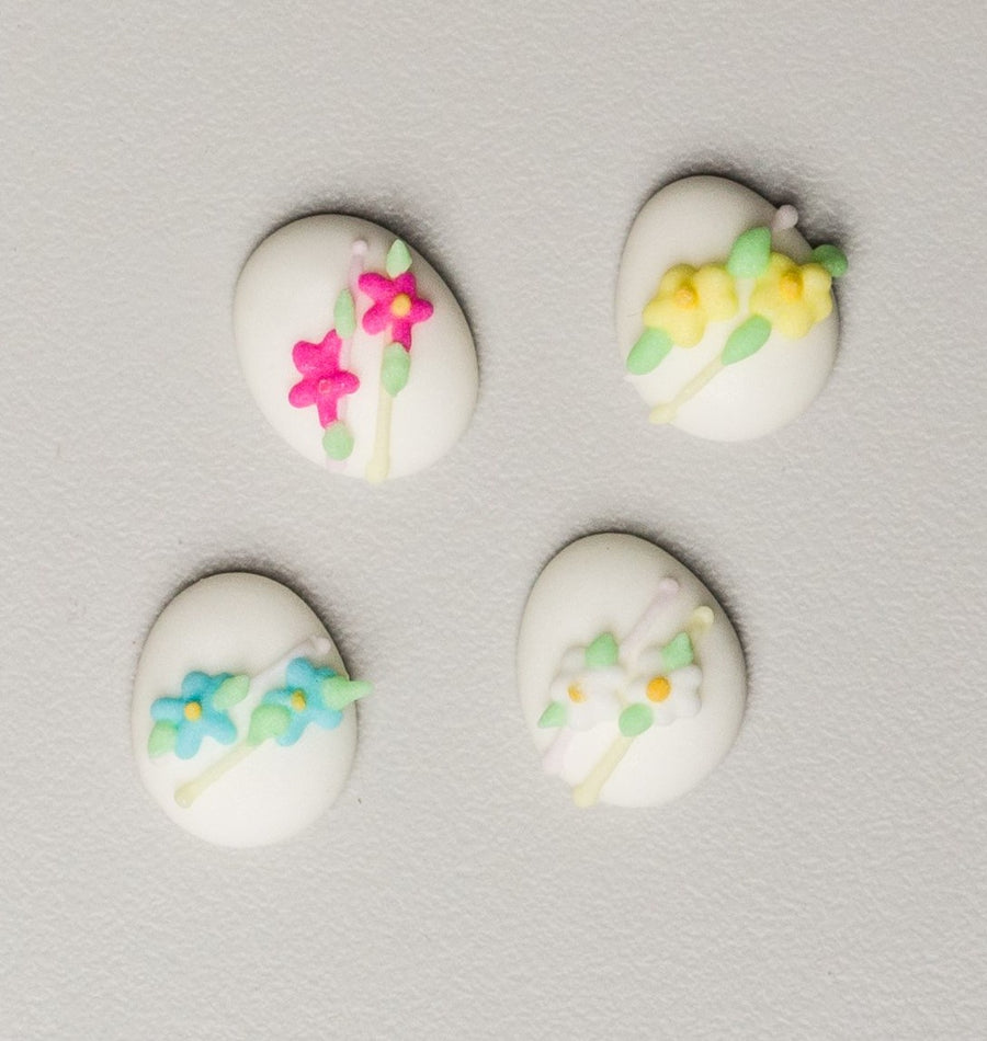 "Royal Icing Easter Eggs - 1/2"" - 12 Pieces Assorted Colors"