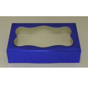 Cookie Box - Blue Foil - Window