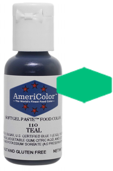 Americolor Soft Gel Paste Food Color -Teal, .75oz