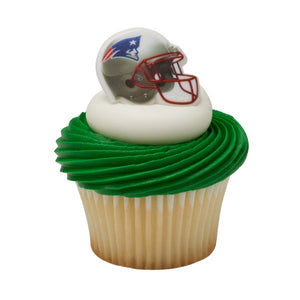 New England Patriots Cupcake Rings- 12 per bag