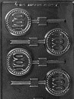 #100 Anniversary/Birthday Chocolate Lollipop Mold