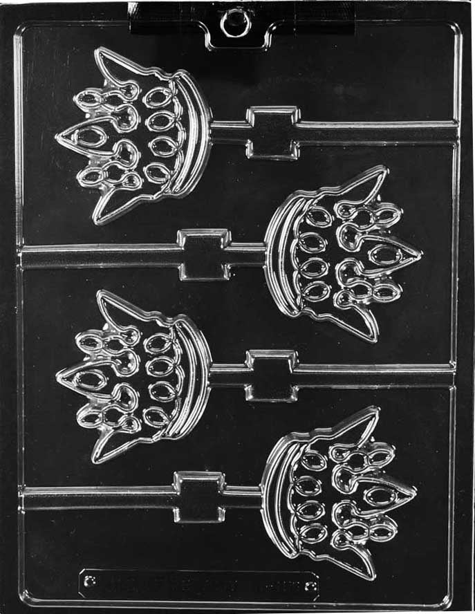 King's Crown Lollipop Chocolate Mold