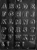 "Alphabet Letters A-Z Chocolate Mold - 1"" High"