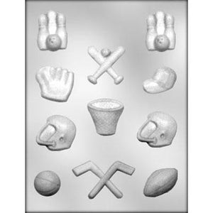 Assorted Sports Chocolate Mold