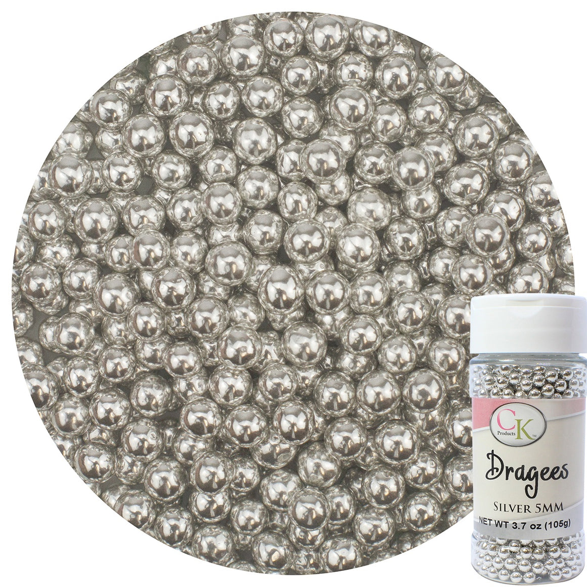 Dragees - 5mm Silver