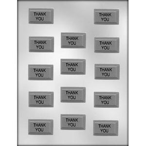 Rectangle Thank You Chocolate Bar Mold