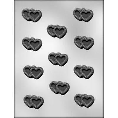 Double Filigree Heart Chocolate Mold