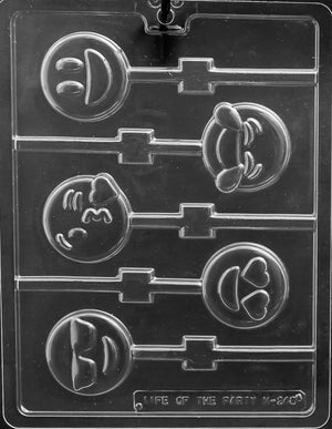 Emoji Lollipop Chocolate Mold