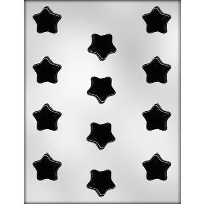 12Pc Flat Star Chocolate Mold