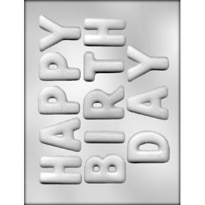 Happy Birthday Bubble Letter Chocolate Mold