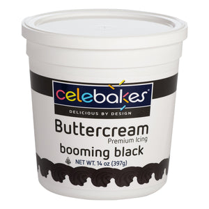 Celebakes Booming Black Buttercream, 14oz