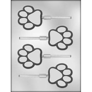 Dog Paw Lollipop Chocolate Mold