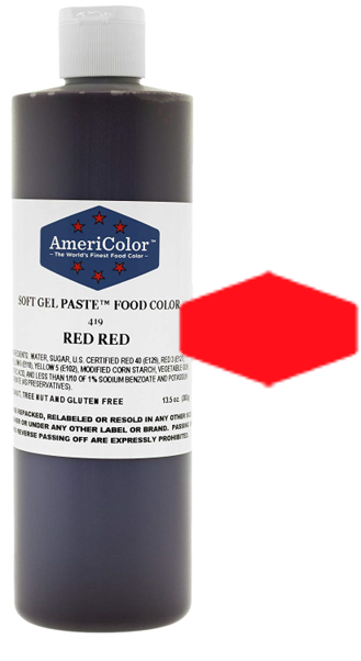 Americolor Soft Gel Paste Food Color - Red Red - 13.5oz